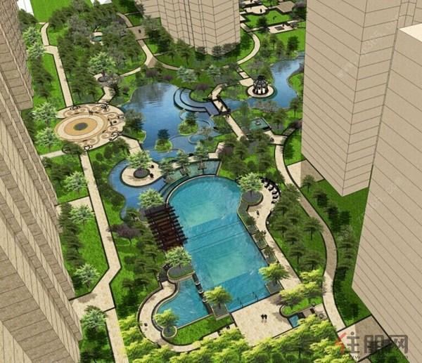凯旋国际中心花园设计图-穹顶之下讲究绿化 贵港绿色生态楼盘大曝光