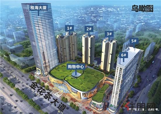 桂海世贸广场3-125m精工美宅及41-48㎡多功能财富公寓火爆热销中