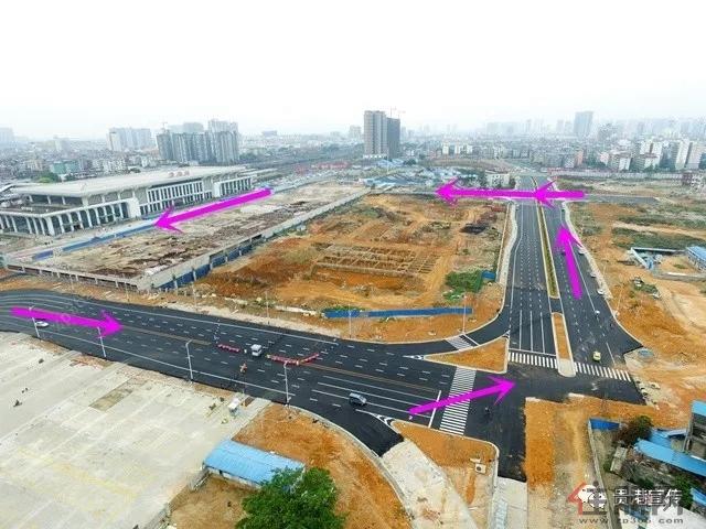 好消息 贵港高铁站前广场平台局部通车,公交站点也有变动图片