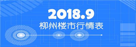 2018年9月柳州楼市行情表