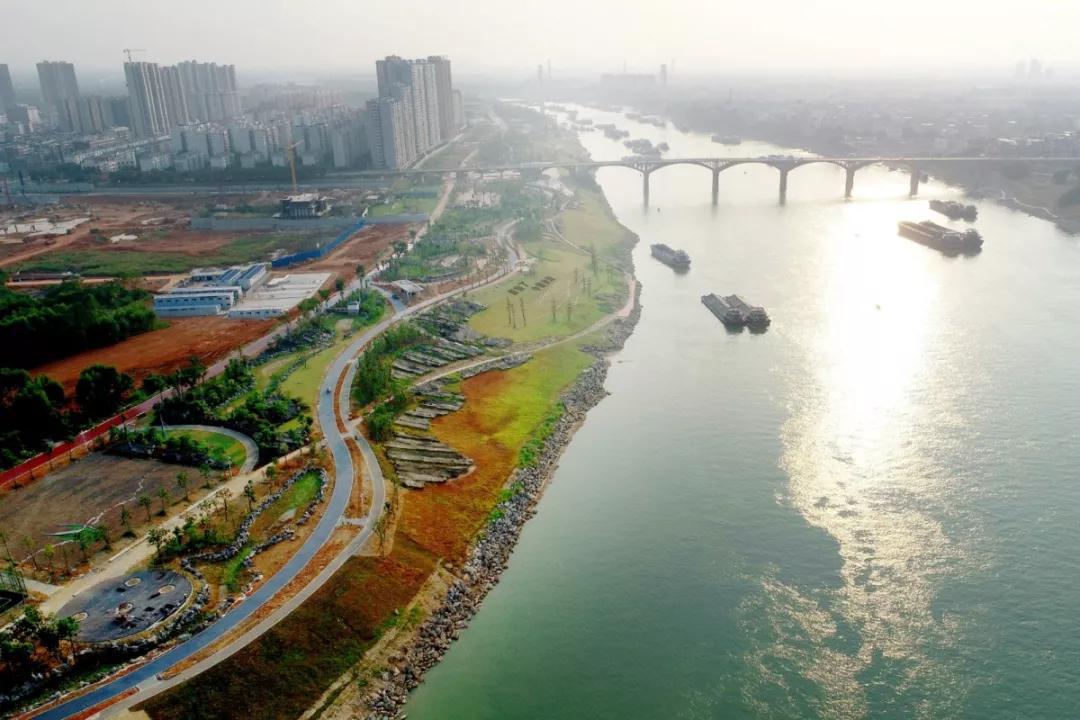 郁江两岸实景图