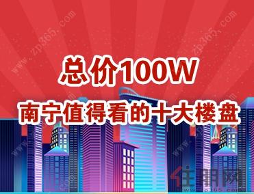 总价100万 南宁值得看的十大楼盘