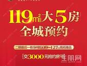 万锦悅府建面约119㎡大5房全城预约,交3000元抢约房号!