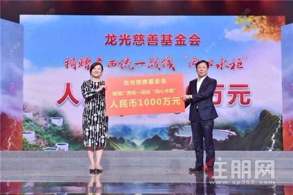 龙光集团执行副总裁、龙光慈善基金会理事长黄湘玲女士代表基金会捐赠.jpg
