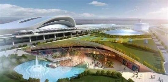 南宁国际空港综合交通枢纽工程效果图