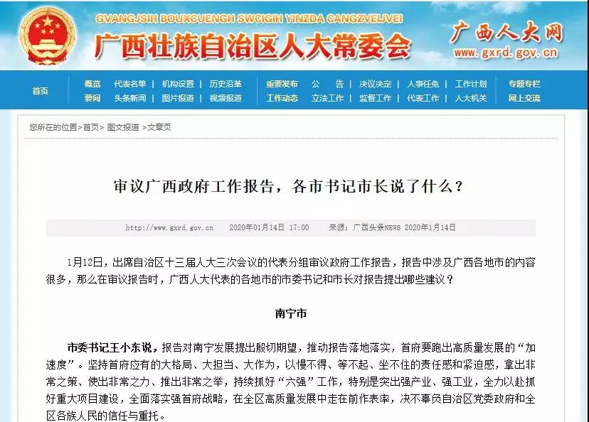 审议广西政府工作报告
