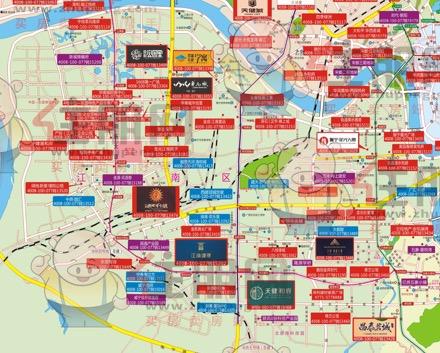 江南区楼市地图