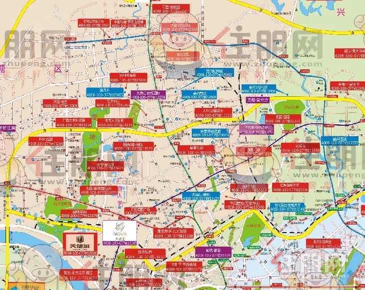 西乡塘楼市地图
