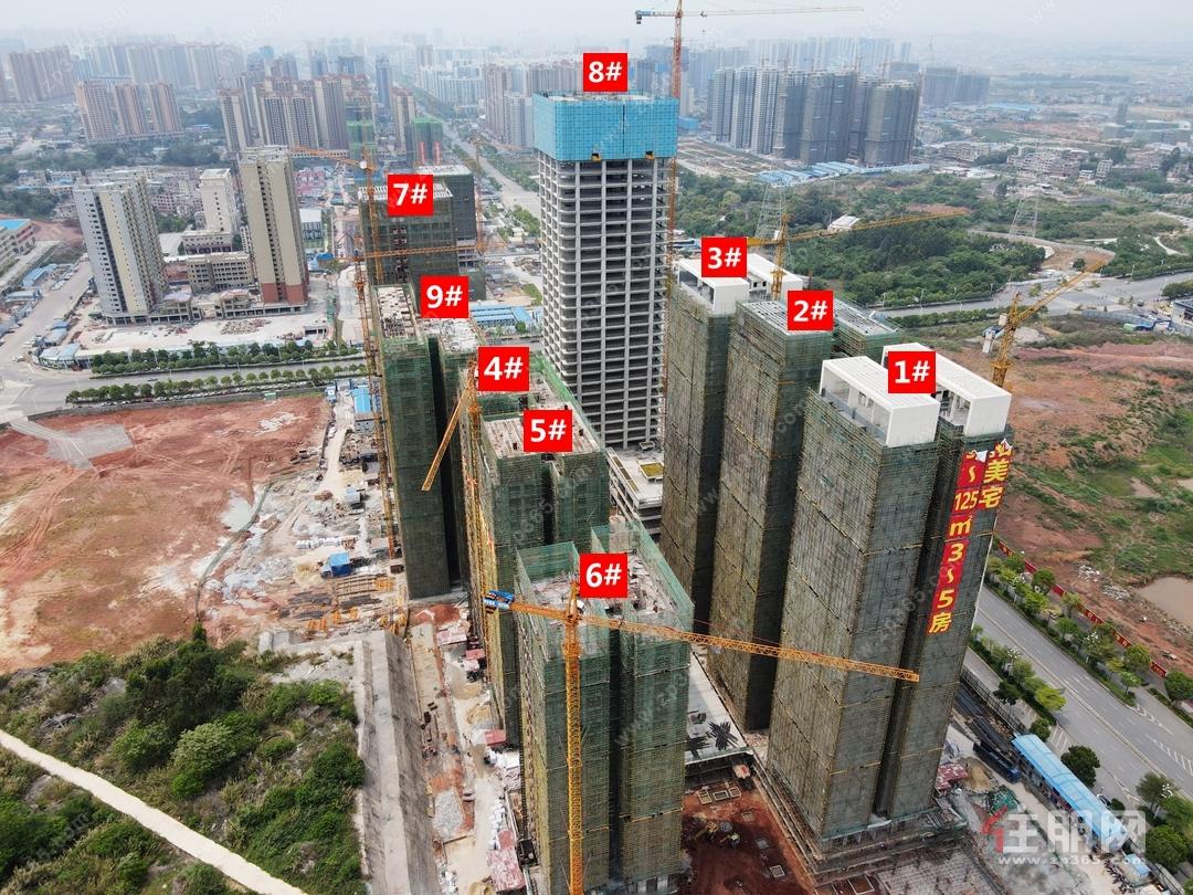 玉商中心航拍工程实景图