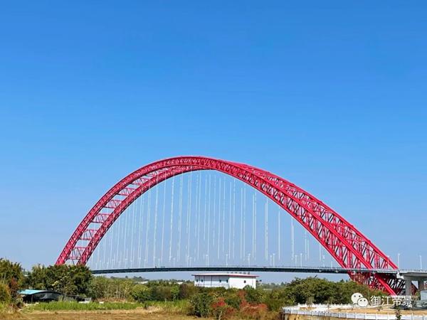 平南三桥实景图