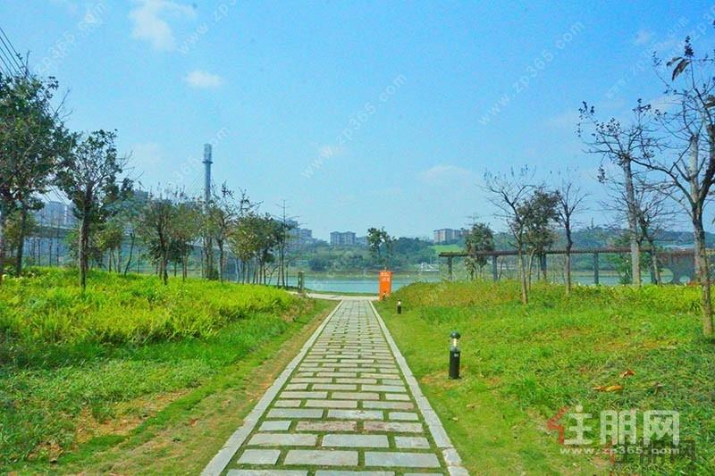 江璟湖对望青山,前拥12公里江滨公园,后揽西湖