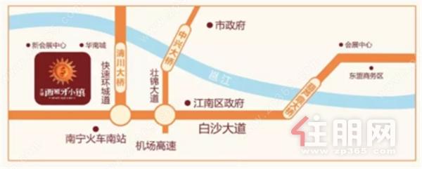 天健西班牙小镇项目位于南宁重点发展的江南区中央商住区与新会展商圈交汇处,东临快速环道(沙井大道),且距地铁4、5、6号线均只有约1公里距离;目前已有61路、64路、78路、39路区间车、城环2线途径项目,出行便利。