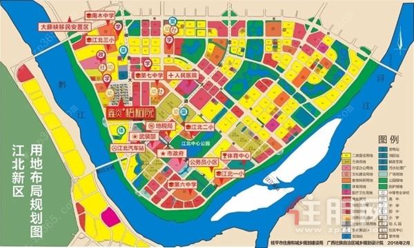 江北新区用地布局规划图