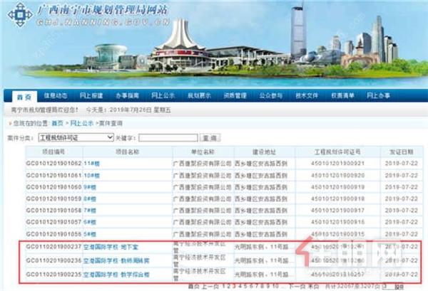 南宁规划管理局官网