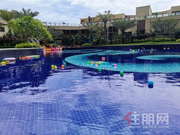 社区泳池实景图