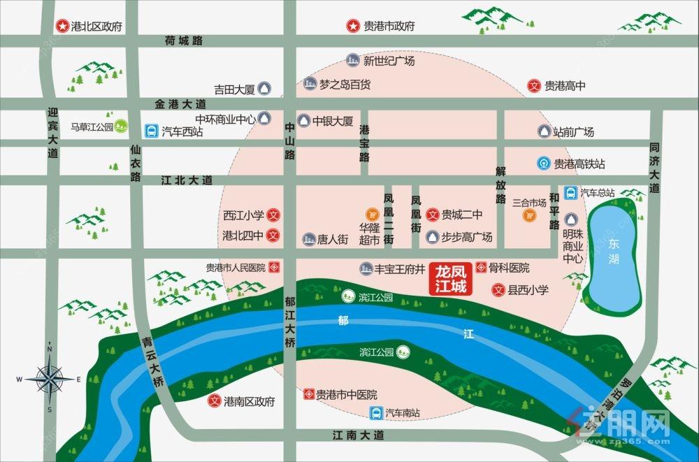 龙凤江城区位图