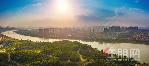 邕江实景图