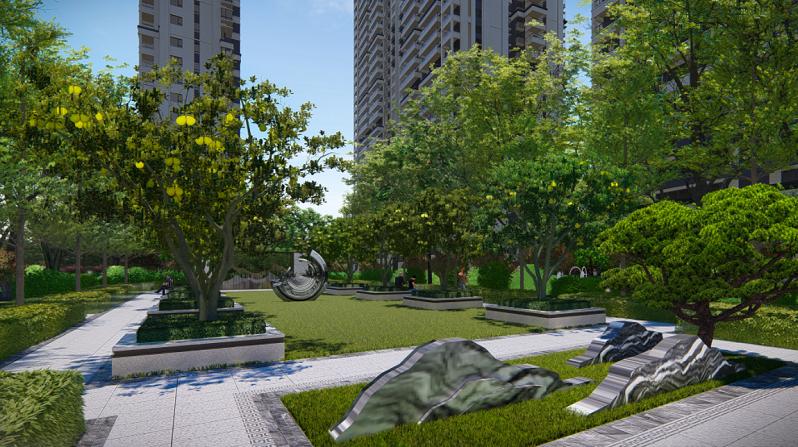 路桥·锦绣御园园林设计效果图5