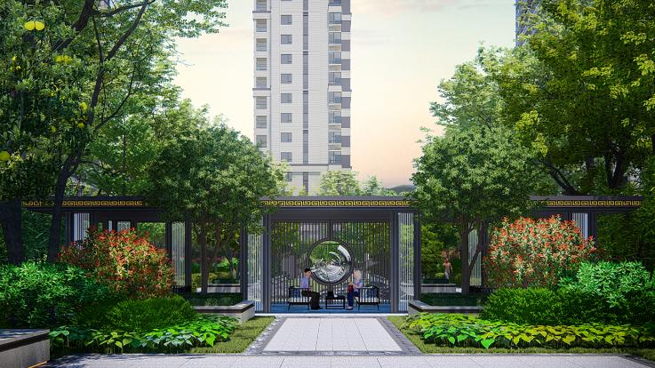 路桥·锦绣御园园林设计效果图6