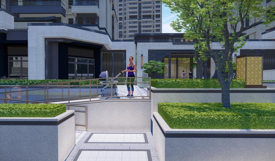 路桥·锦绣御园园林设计效果图2