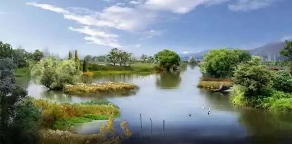 牛皮湿地公园示意图