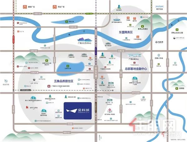 金科城项目区位图