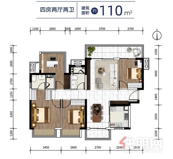 华润置地江南中心110㎡户型.png
