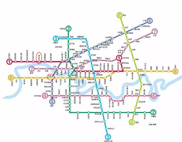 南寧地鐵路線規劃圖 來源網絡