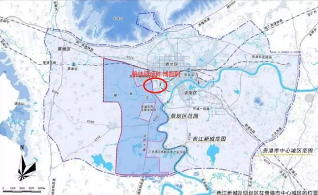 西江新城规划图
