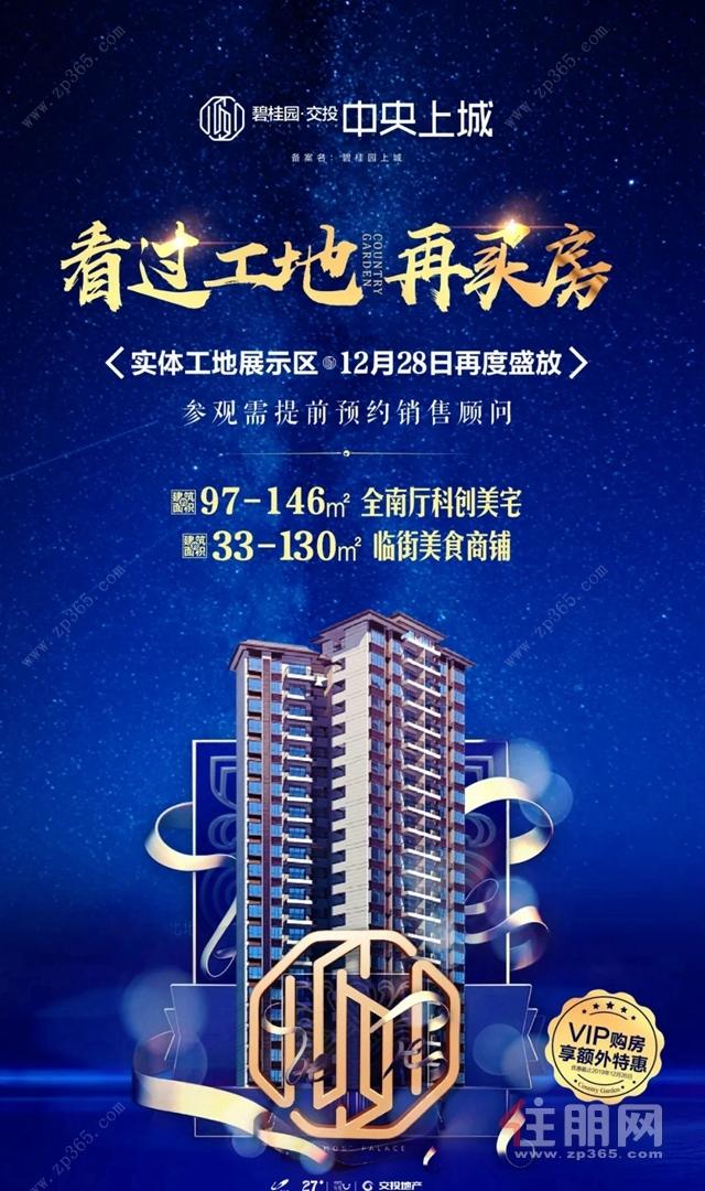 碧桂园·中央上城宣传海报