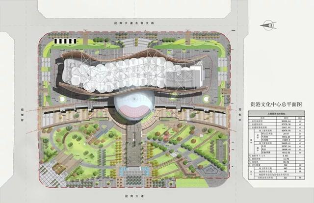 贵港市文化艺术中心总平面图