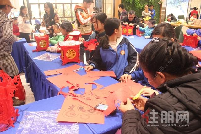 广汇·钰荷园营销中心剪纸活动现场