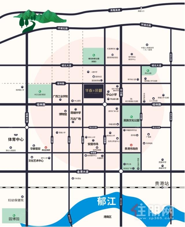 华泰荣御项目区位图