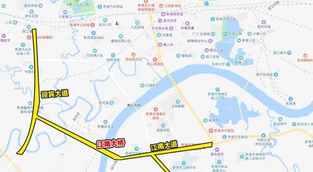 江南大桥及接线工程地理位置图