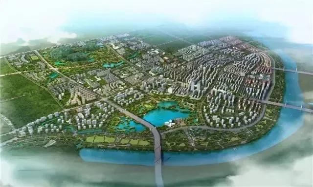 港南规划总体鸟瞰图