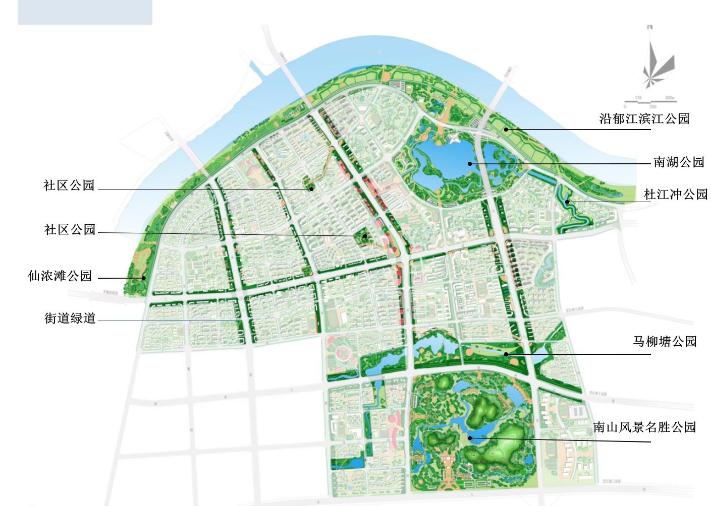 港南区公园规划示意图