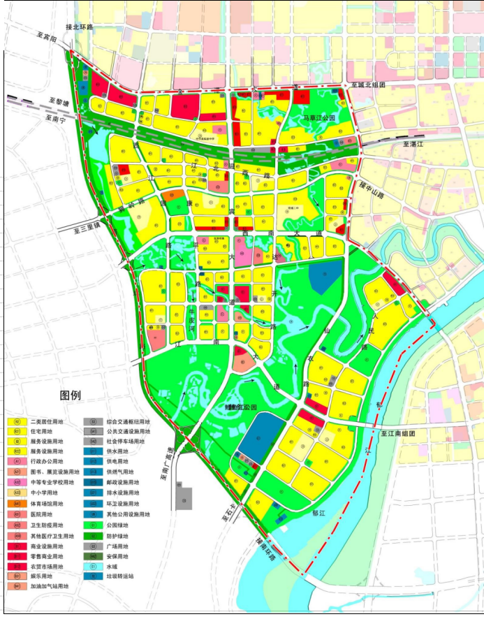 城西地块分布展示
