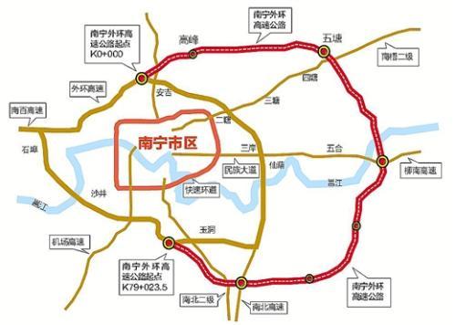 而在交通方面,南宁新城吾悦广场北接绕城高速,南通厢竹大道,并