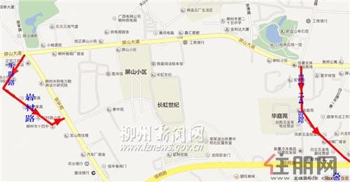 柳州主要交通路段机动车单行线路(附图)