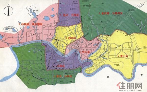 最新南宁地图全图