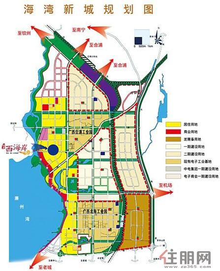 北海 硅谷 在崛起 海湾新城中心阳光西海岸占据价值高地 高清图片