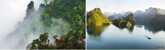 上林名胜旅游风景区,大明山风景区交汇处,大明山风景区,莲花山,下水源
