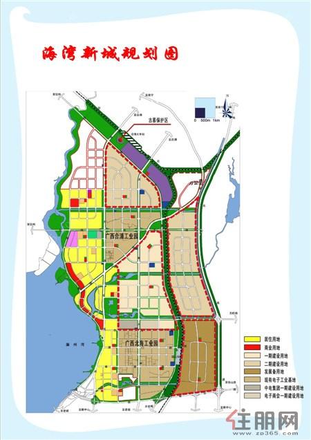 海湾新城规划图-北海工业园产值持续增长 带动海湾新城经济快跑