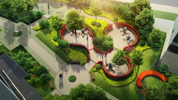 美国城花园效果图