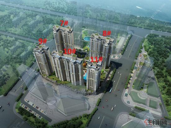 最高的是330米的双子塔南宁中心