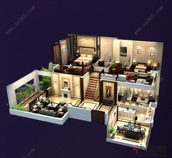 一套房子的立体图