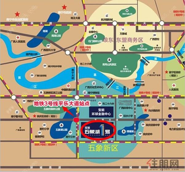 南宁地铁3号线沿线楼盘3999元/㎡