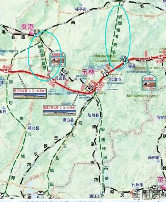 重磅 南宁经玉林至深圳 高铁线路图曝光图片