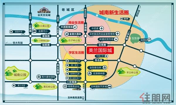 玉林 三区社区地图