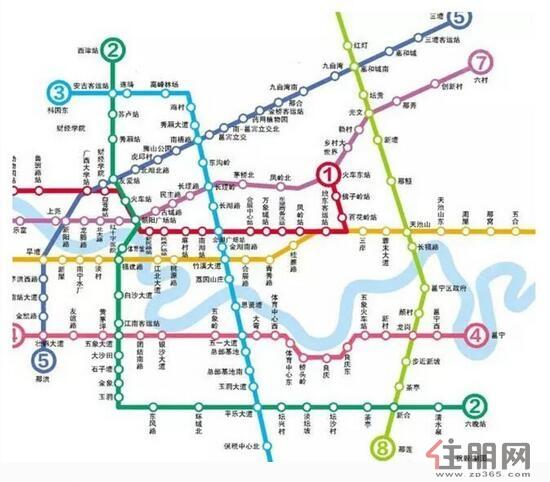 南宁地铁线路线图-地铁5号线一期通过专家评审 天健西班牙小镇未来升
